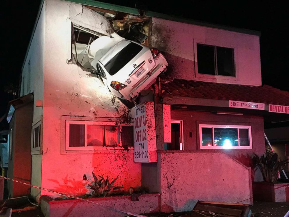 Dramatic video captures car crashing into 2nd floor dental for How to build a 2nd story floor