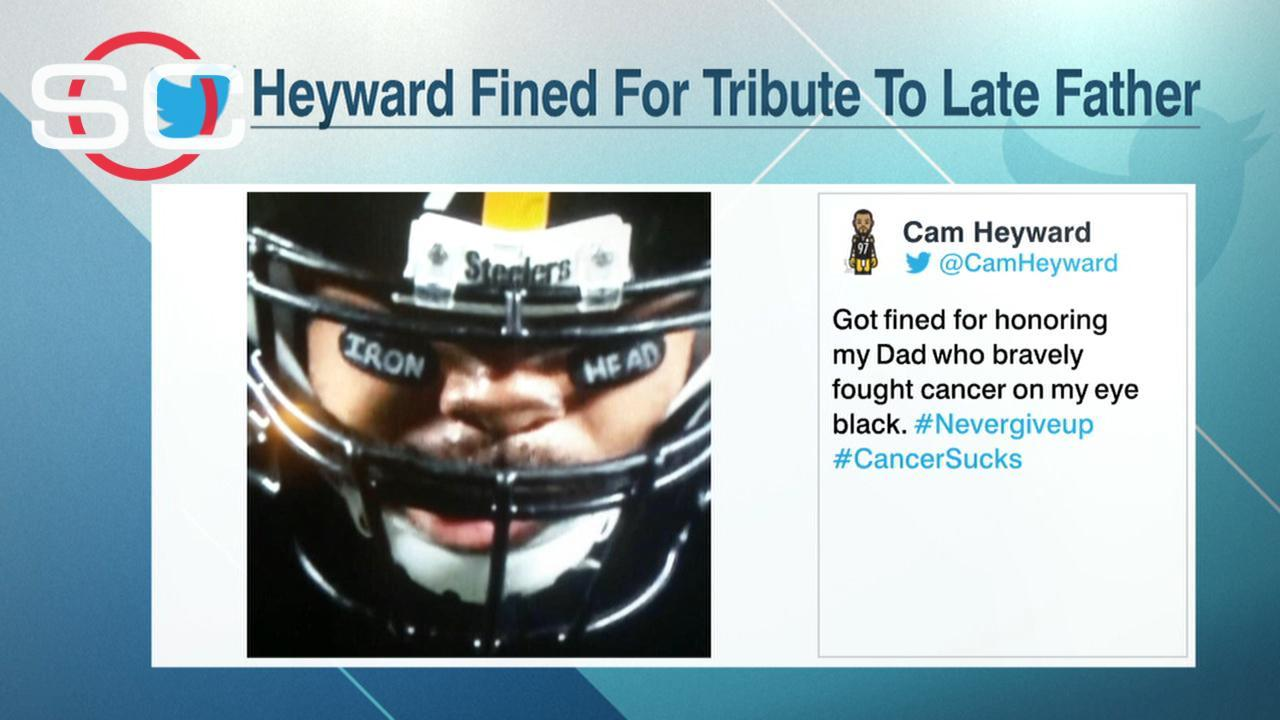Cameron Heyward NFL fined me for honoring late father with eye