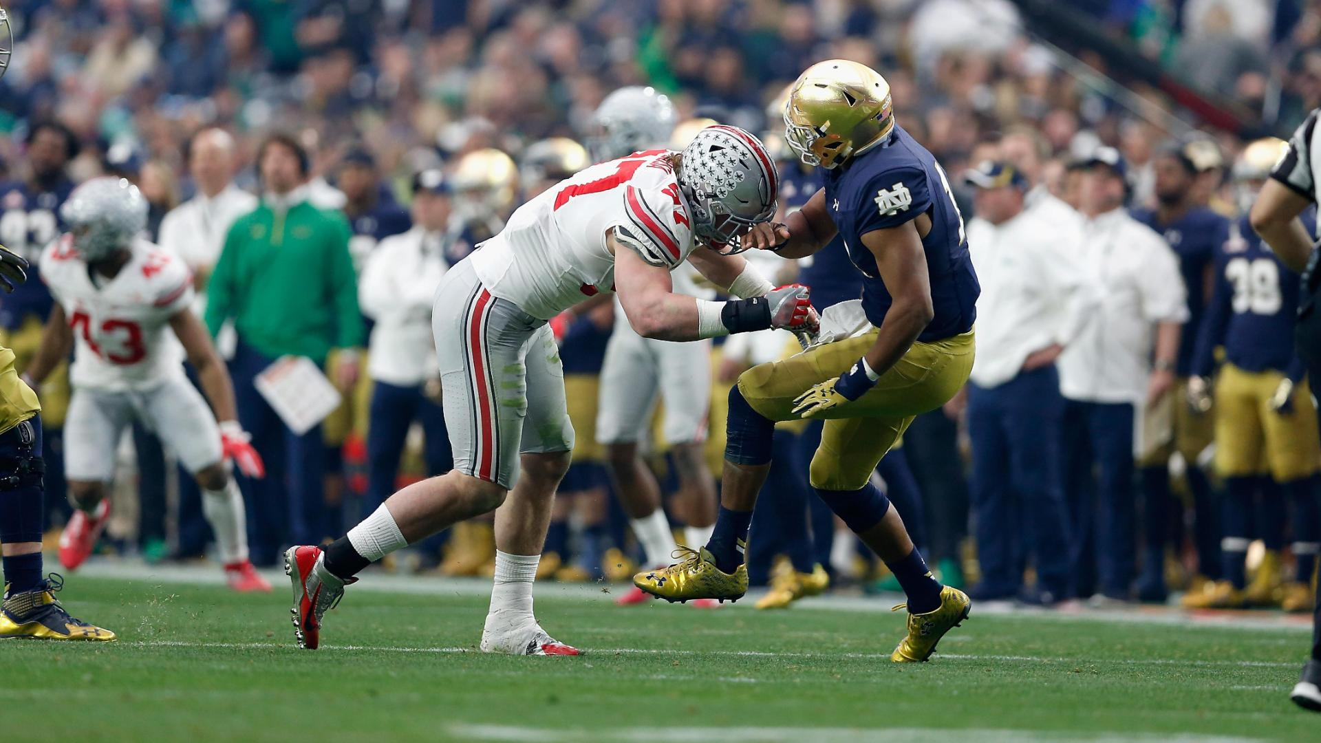 Joey Bosa ejected for tar ing confirms he will enter NFL draft