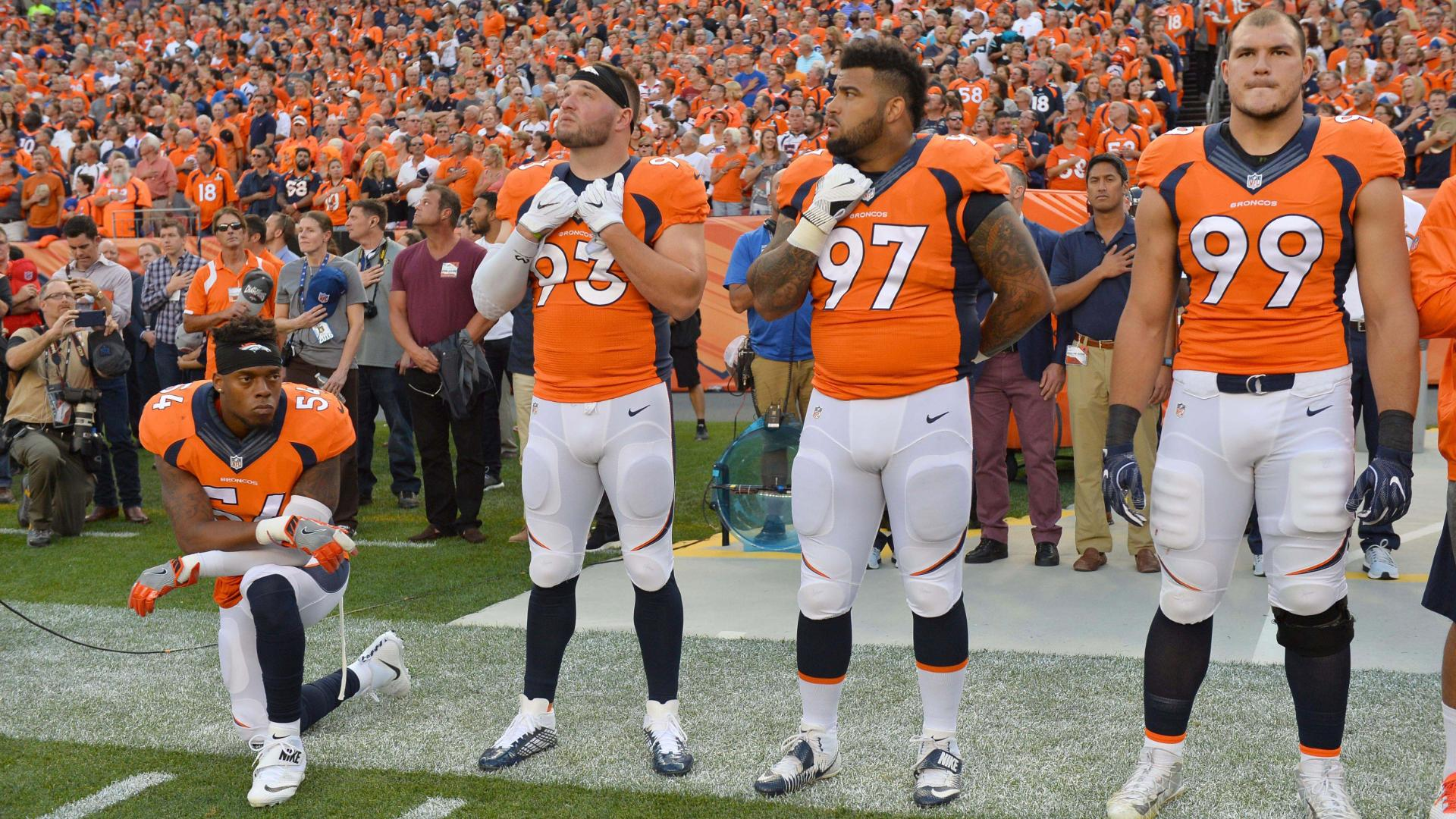 Brandon Marshall Kneeling during anthem will create dialogue