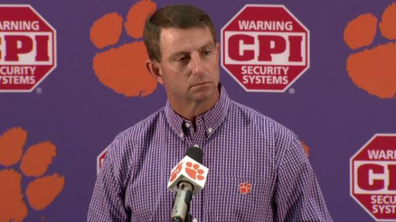 Swinney: Clemson offensive stars heading to NFL