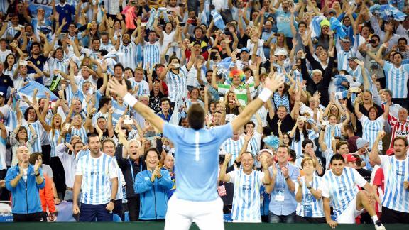 Argentina's Davis Cup winning moment over Croatia