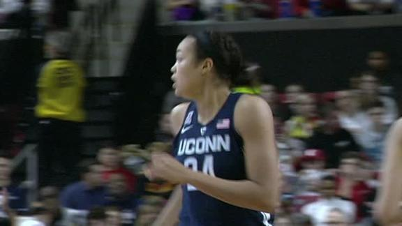 No. 1 UConn's trademark blitz staves off Maryland