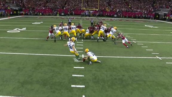 Packers' Mason Crosby becomes first kicker to miss FG this postseason
