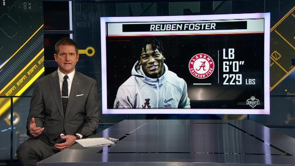 LB Reuben Foster tested positive for diluted urine sample at combine