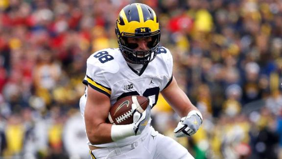 NFL Draft 2017: MI tight end Jake Butt cashes in insurance plan
