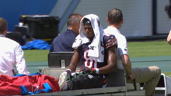 Bears lose WR Cameron Meredith to knee injury against Titans