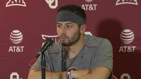 Baker Mayfield Plants Flag >> Baker Mayfield's legend grows with swaggering win over Ohio State