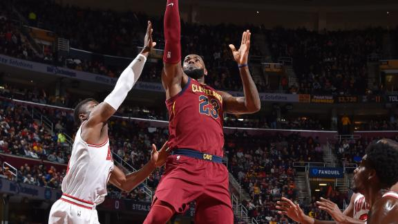 Elbow injury forced LeBron James to change shooting motion - ABC News