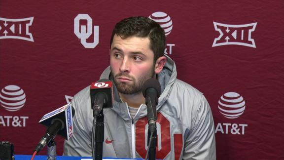 Here's what OU quarterback Baker Mayfield said about his gesture vs. KU