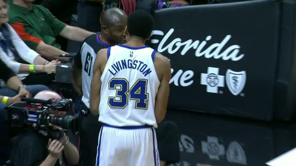 Warriors' Shaun Livingston, NBA official suspended for 'on-court altercation'