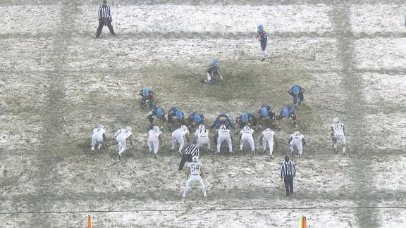 Army holds off Navy in snow after last-second FG miss by Midshipmen