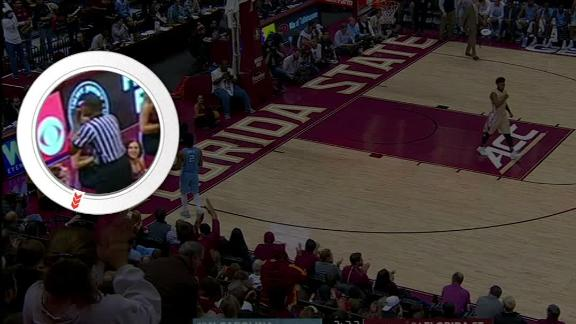 Official turns back to UNC's Berry during FSU game, draws criticism online