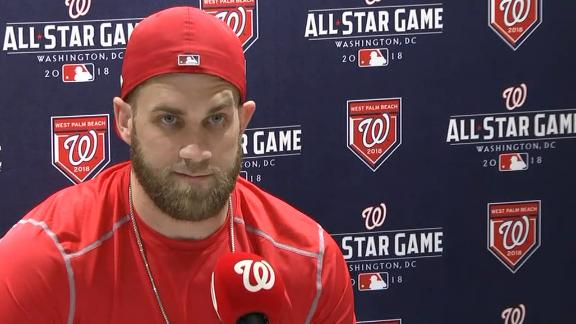 Bryce Harper says his focus is on 2018