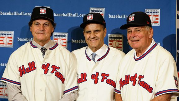 Tony La Russa, Joe Torre and Bobby Cox