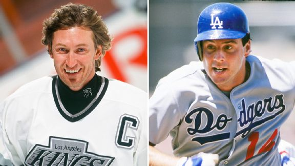 Wayne Gretzky and Mike Scioscia