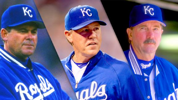 Bob Boone, Ned Yost and Tony Muser