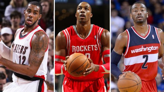LaMarcus Aldridge, Dwight Howard, John Wall