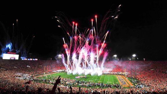 BCS game fireworks