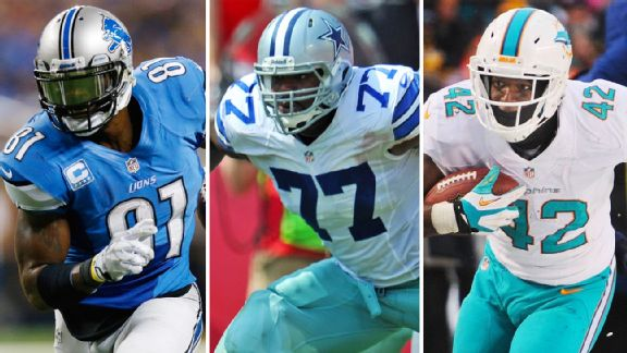 Calvin Johnson, Tyron Smith, Charles Clay