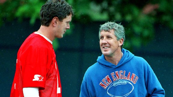 Pete Carroll and Drew Bledsoe