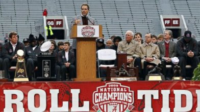 Nick Saban 2009 title speech