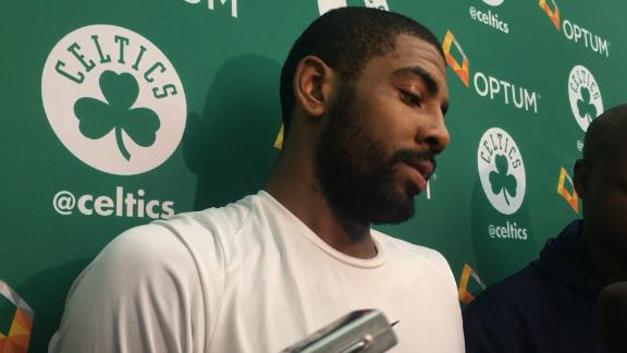 Kyrie Irving Cusses at Fan Who Asks 'Where's LeBron?!'