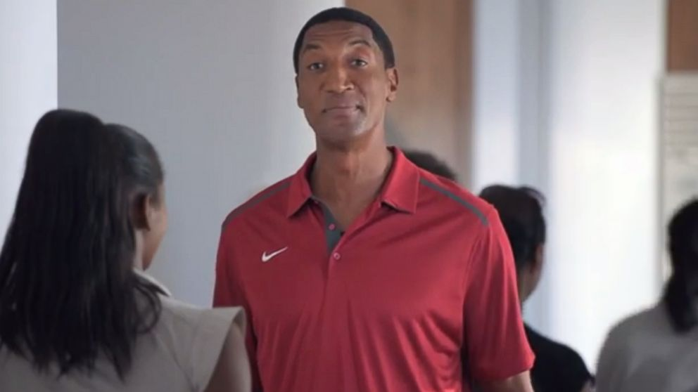 PHOTO: Basketball great Scottie Pippen appears in a Foot Locker ad released Aug. 5, 2014.