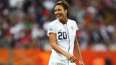 PHOTO: Abby Wambach of USAis seen during the FIFA Women's World Cup 2011 Group C match between USA and Colombia at Rhein-Neckar-Arena on July 2, 2011 in Sinsheim, Germany.
