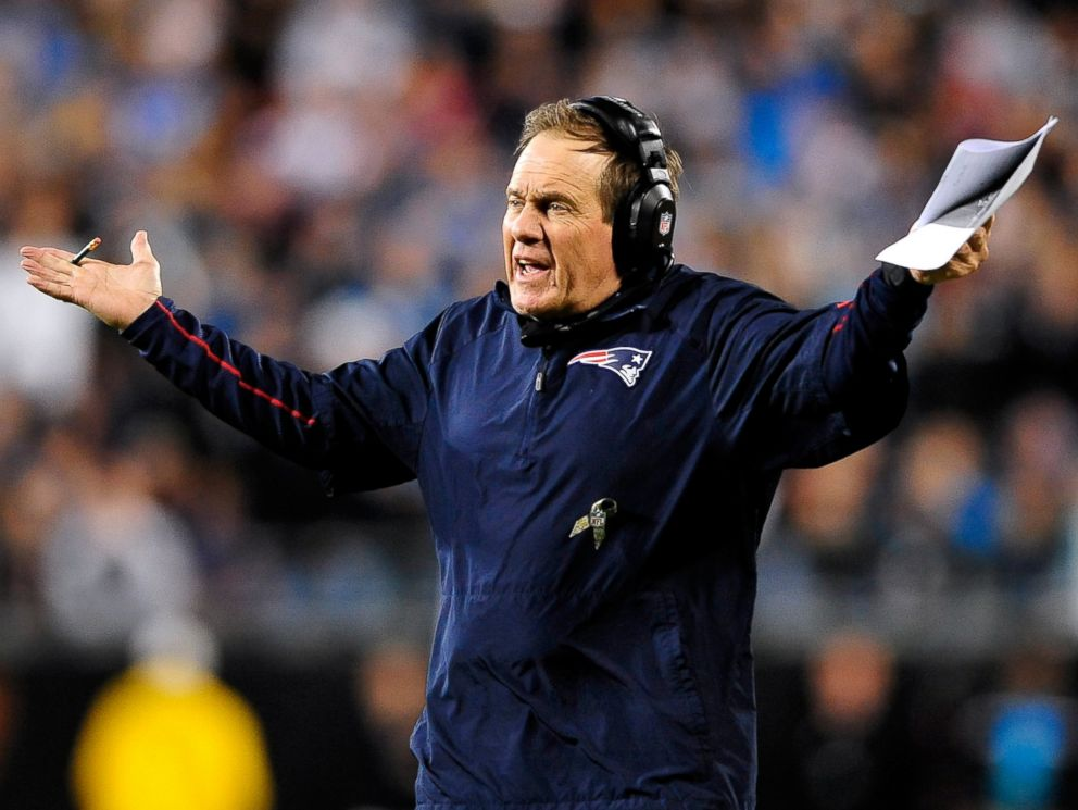 PHOTO: Coach Bill Belichick of the New England Patriots during a game against the Carolina Panthers on Nov. 18, 2013 in Charlotte, North Carolina.