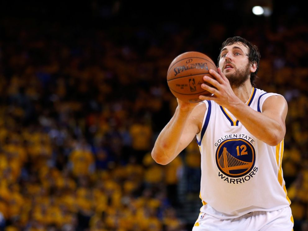 PHOTO: Andrew Bogut shoots a free throw in the second half against the Houston Rockets during game two of the Western Conference Finals of the 2015 NBA Playoffs, May 21, 2015 in Oakland, Calif.