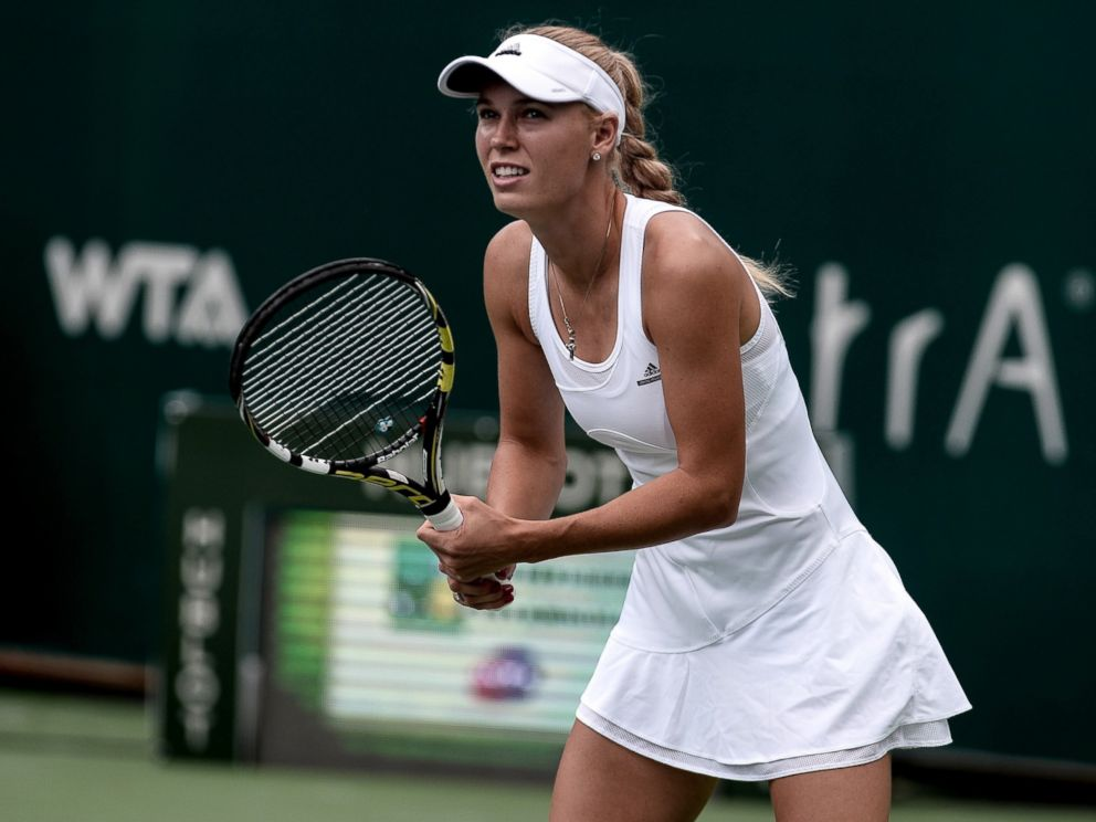 PHOTO: Caroline Wozniacki of Denmark in action against Roberta Vinci of Italy during the TEB BNP Paribas Istanbul Cup tennis tournament in Istanbul, Turkey on July 20, 2014.