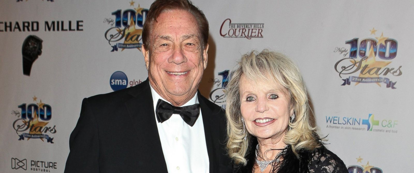 PHOTO: Donald Sterling, left, is pictured with his wife Shelly Sterling, right, at the Beverly Hills Hotel on Feb. 27, 2011 in Beverly Hills, Calif.