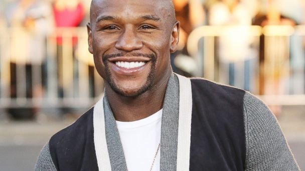 "PHOTO: Floyd Mayweather Jr. arrives at the premiere of ""A Haunted House 2"", April 16, 2014 in Los Angeles, Calif."