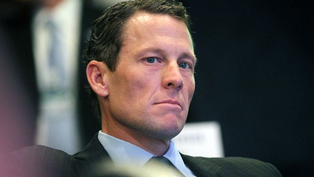 PHOTO: Lance Armstrong, cyclist and founder and chairman of LIVESTRONG, loo