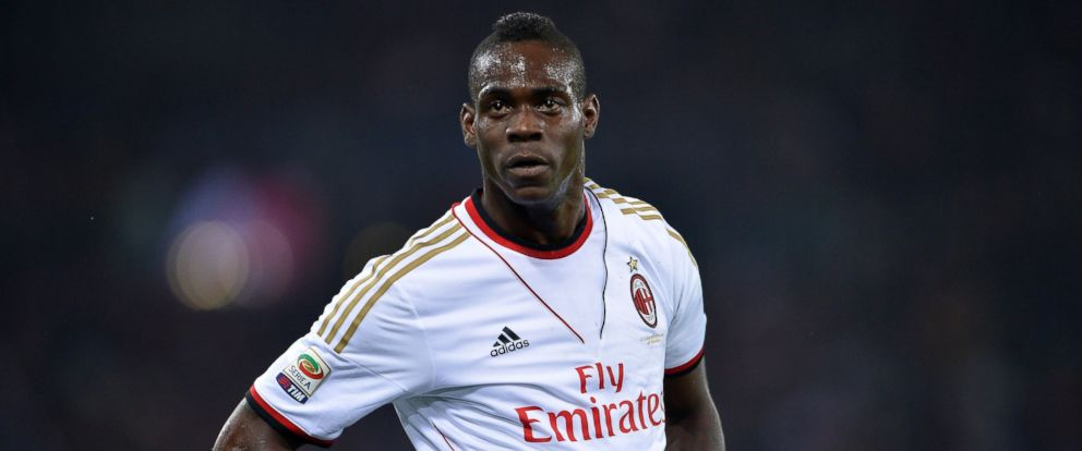 PHOTO: AC Milans forward Mario Balotelli on April 25, 2014 at the Olympic stadium in Rome.
