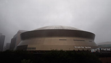 PHOTO: General view of the Mercedes-Benz Superdome, Aug. 29, 2012, in New Orleans, La.
