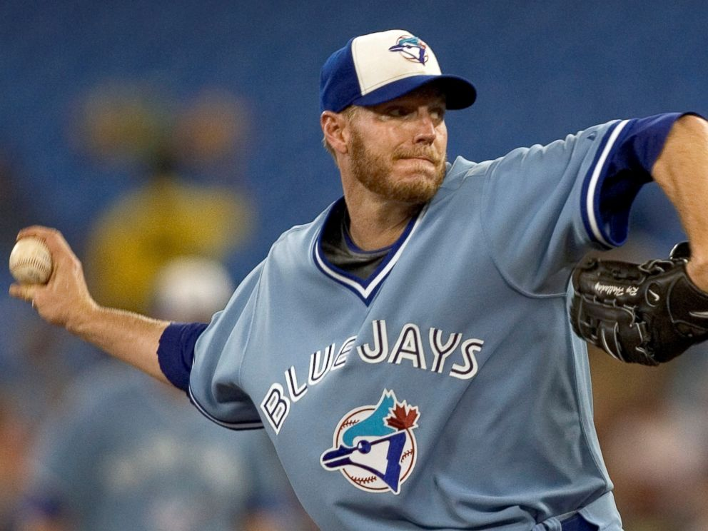 PHOTO: Toronto Blue Jays starting pitcher Roy Halladay throws against the Tampa Bay Rays in the first inning of their American League MLB baseball game in Toronto Sept. 5, 2008.