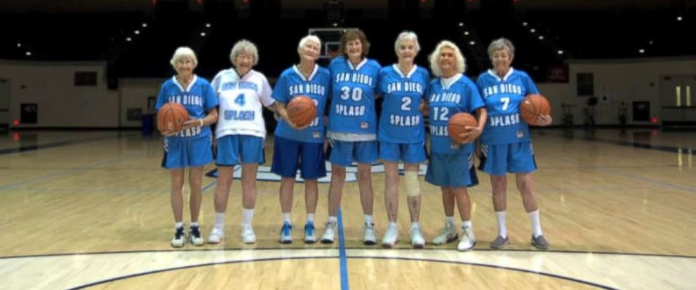 PHOTO: To join the San Diego Splash womens basketball team you have to be at least 80 years old.