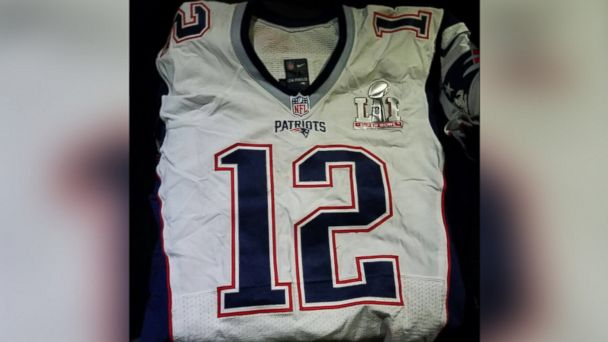 PHOTO: A photo released by the Mexican Attorney General's office on March 21, 2017 shows the Tom Brady jersey from Super Bowl LI.