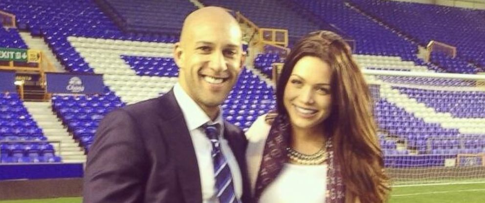 "PHOTO: U.S. soccer star Tim Howard is seen with his girlfriend Sarah McLean in a photo that she posted to her Twitter account on May 3, 2014 with the text, ""My boy played well."""