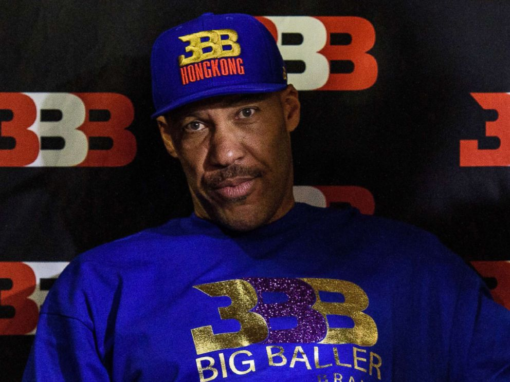 PHOTO: LaVar Ball, father of basketball player LiAngelo Ball and the owner of the Big Baller brand, attends a promotional event in Hong Kong, Nov. 14, 2017. <p itemprop=