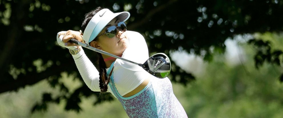 PHOTO: Michelle Wie hits her tee shot on the third hole during the final round of the 2017 KPMG PGA Championship on July 2, 2017 in Olympia Fields, Ill.