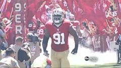 VIDEO: The 49ers star defensive lineman was removed from team after search warrant issued for possible sexual assault.