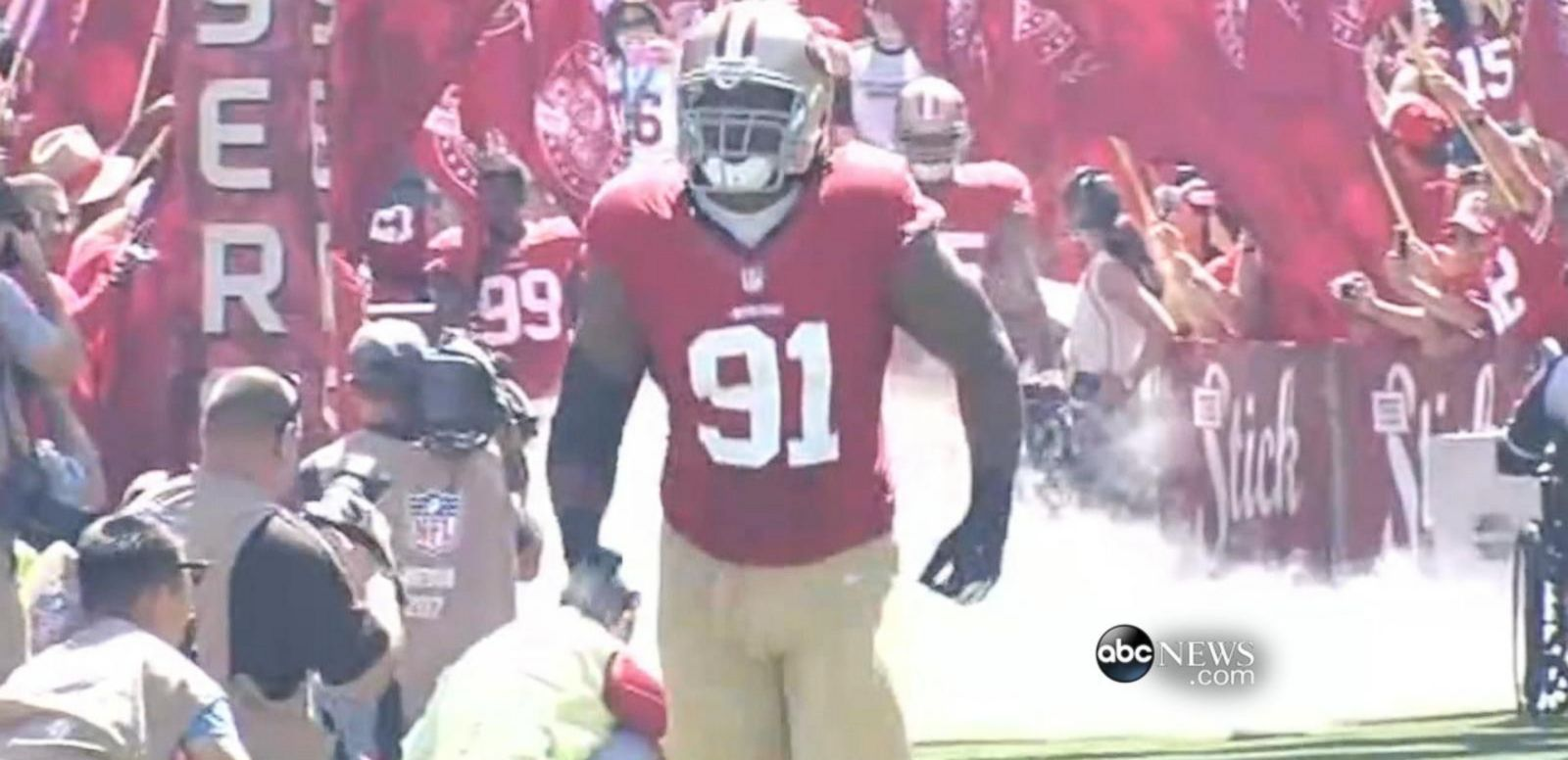 VIDEO: The 49ers' star defensive lineman was removed from team after search warrant issued for possible sexual assault.