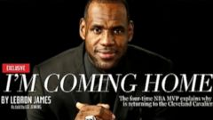 NBA superstar wrote in Sports Illustrated that he is going back to his home state of Ohio.