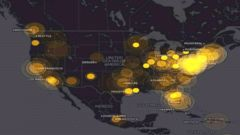 VIDEO: Map shows social media activity during State of the Union