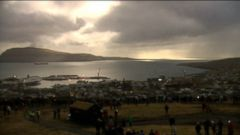 VIDEO: Sky gazers gathered in the town of Torshavn in the Faroe Islands to watch the total eclipse.