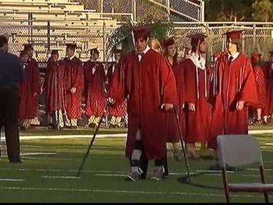 Watch: Paralyzed Teen Crosses