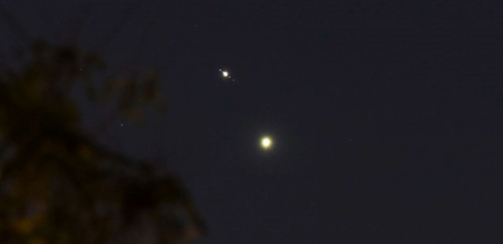 VIDEO: The planets appeared to glide closer together in what's called an astronomical conjunction.